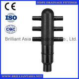 Тип соединение шарика штуцеров трубы дренажа сифона HDPE шарика HDPE подходящий HDPE сферически четырехпроводное для штуцеров PE