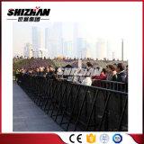 Barrière provisoire à vendre la barrière de contrôle de foule de concert de krach en métal