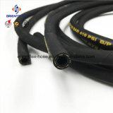 높은 장력 섬유에 의하여 강화되는 고무 유압 호스 (SAE100r6)