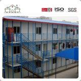 Chambre à plusiers étages préfabriquée légère de camp de structure métallique