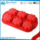 Mini moulage de gâteau de feuilleté de la vente LFGB de certificat de silicones chauds de traitement au four