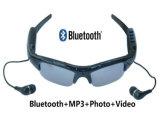 Auricular sin hilos del MP3 de la videocámara del video DVR DV de la tarjeta del TF del soporte de los vidrios de Eyewear de la cámara de Bluetooth de las gafas de sol del deporte