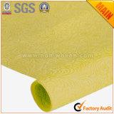 Amarelo não tecido do ouro dos materiais de envolvimento no. da flor & do presente 10