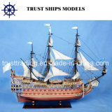 Decoration domestico 31cm Hms Victory Wooden Ship Model