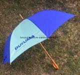23 '' guarda-chuva de madeira do punho do eixo e da madeira com tela do nylon 190t