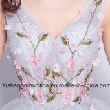 Платья Bridesmaid с платьями выпускного вечера партии вышивки флористическими Beaded короткими