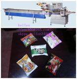 Tallarines de arroz que introducen manuales flujo automático que envuelve la maquinaria