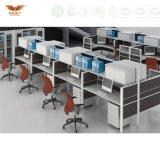 La forêt de FSC a certifié les meubles de bureau incurvés par type neuf de poste de travail de S-Forme