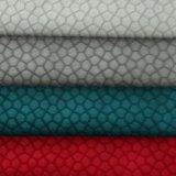 Le velours gravent le tissu de textile mou de modèle de configuration de polyester