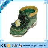 Polyresin Garten-Dekoration-Feld-Harz-Schuhe mit Frosch