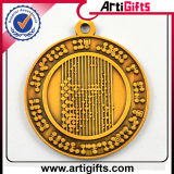 Qualitäts-Metall überzogene Silbermedaille mit Farbband