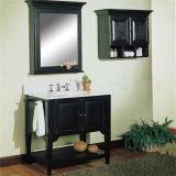 ミラーのキャビネットが付いている高品質の純木の浴室用キャビネット
