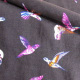 Птицы делают по образцу напечатанную Viscose ткань для рубашки женщин