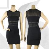Платья шеи экипажа повязки Vail черной сетки женские