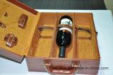 Caixa do vinho do plutônio/vinho de couro que empacota/empacotamento delicado com logotipo
