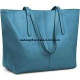 여자의 진짜 가죽 끈달린 가방 핸드백 어깨에 매는 가방