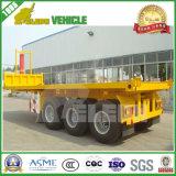 de Aanhangwagen van de Stortplaats van de Container van de Opschorting van de Lente van het Blad van het Staal van 2 of 3 Assen Fuwa