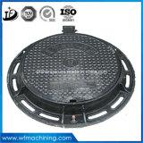 En124 A15 B125 C250 D400 경첩을 단 개간을%s 하수구 또는 하수구 맨홀 뚜껑의 둘레에 밀봉된 던지는 단철 두 배는 600mm를 연다