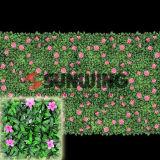플라스틱 잔디 검열 플랜트 정원 담쟁이 잎 담 인공적인 산울타리