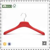 Heiße verkaufende rote Plastikkleiderbügel, Goldplastikkleidung-Aufhängungen