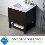 Gabinete estratificado preto da vaidade do banheiro do revestimento do folheado (ZY 3017)