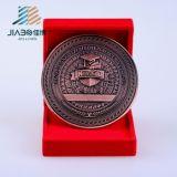 販売法の旧式な銅のカスタムロゴの金属の昇進のギフトの硬貨を指示しなさい