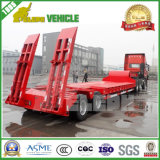 40FT 3 Axles Plataforma de carga baja Lowboy Trailer