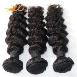 7A毛は深い波のブラジルのバージンのRemyの人間の毛髪を束ねる