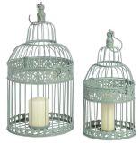 Cage d'oiseau de fer de moulage S/2 pour la maison et le jardin