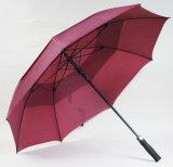 La vetroresina antivento di doppio strato Ribs l'ombrello di golf (H7503)