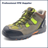 Безопасность пальца ноги Nubulk кожаный мягкая единственная составная Hiking ботинки