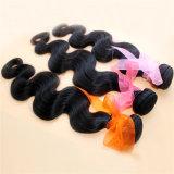 Extensão brasileira natural do cabelo humano do Virgin da cor 9A da onda do corpo