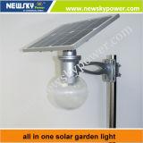 세륨 RoHS Solar 8W 12W LED 정원 Lamp