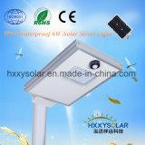 1개의 통합 LED 태양 가로등 6W에서 에너지 절약 전부