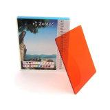 miroir modelé coloré/orange décoratif de 3mm-6mm