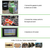 Máquina móvil de la limpieza del carbón del motor de Hho del producto de limpieza de discos del motor del producto del cuidado de coche de la energía aceptable