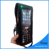 Touch Screen Industrial PDA Scanner de código de barras portátil sem fio com impressora