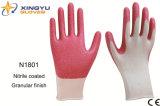 Перчатки работы безопасности раковины полиэфира покрынные нитрилом (N1801-1)
