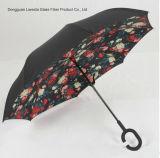 Новая стеклоткань конструкции шутит над Windproof обратным/вверх ногами зонтиком