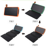 2017 새로운 디자인 점화기를 가진 Foldable 태양 이동 전화 힘 은행