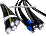 Кабель стандарта AWG ABC проводника AAAC/AAC изолированный PVC/PE/XLPE