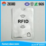 Papel impreso RFID de papel de aluminio que bloquea el portatarjetas