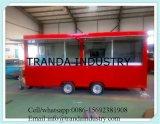 Самомоднейшее мороженное перевозит трейлеры на грузовиках хота-дога тележки доставки с обслуживанием