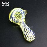 Tubo de cristal de la cachimba de la cera del LENGUADO de la cuchara de los tubos que fuman de los tubos de la mano
