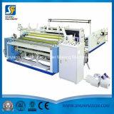 Papel higiénico de alta velocidad y toalla de cocina que rebobina y que perfora haciendo la máquina