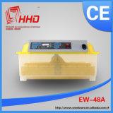 Incubateur d'oeufs de Digitals de thermostat des prix spéciaux mini à vendre Ew-48
