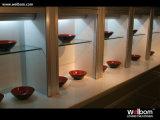 Welbomの工場販売法の最もよい価格の光沢度の高い食器棚