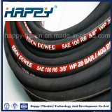 O SAE 100 R6 escolhe a mangueira de borracha hidráulica trançada fibra