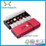 Rectángulo de empaquetado del chocolate de la cartulina del regalo de lujo de encargo del papel
