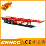 Semi-Trailer de esqueleto do recipiente 3axle com assoalho
